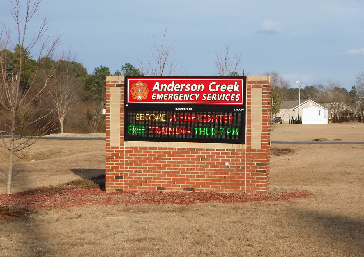 AndersonCreekEMS - Anderson Creek, NC - Advance Signs & Service