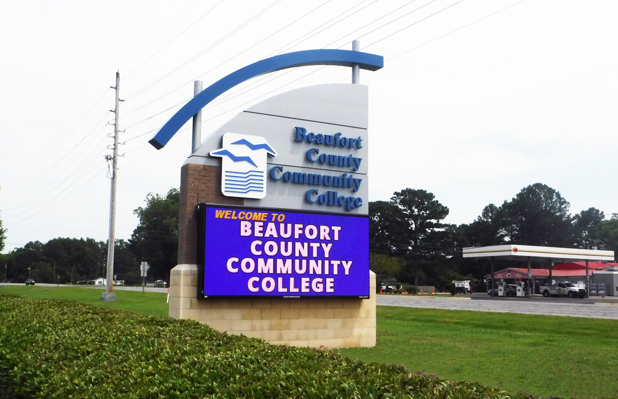 Beaufort County Community College - Washington, NC - Advance Signs & Service