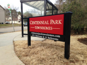 Centennial Park Townhomes - Raleigh, NC - Advance Signs & Service