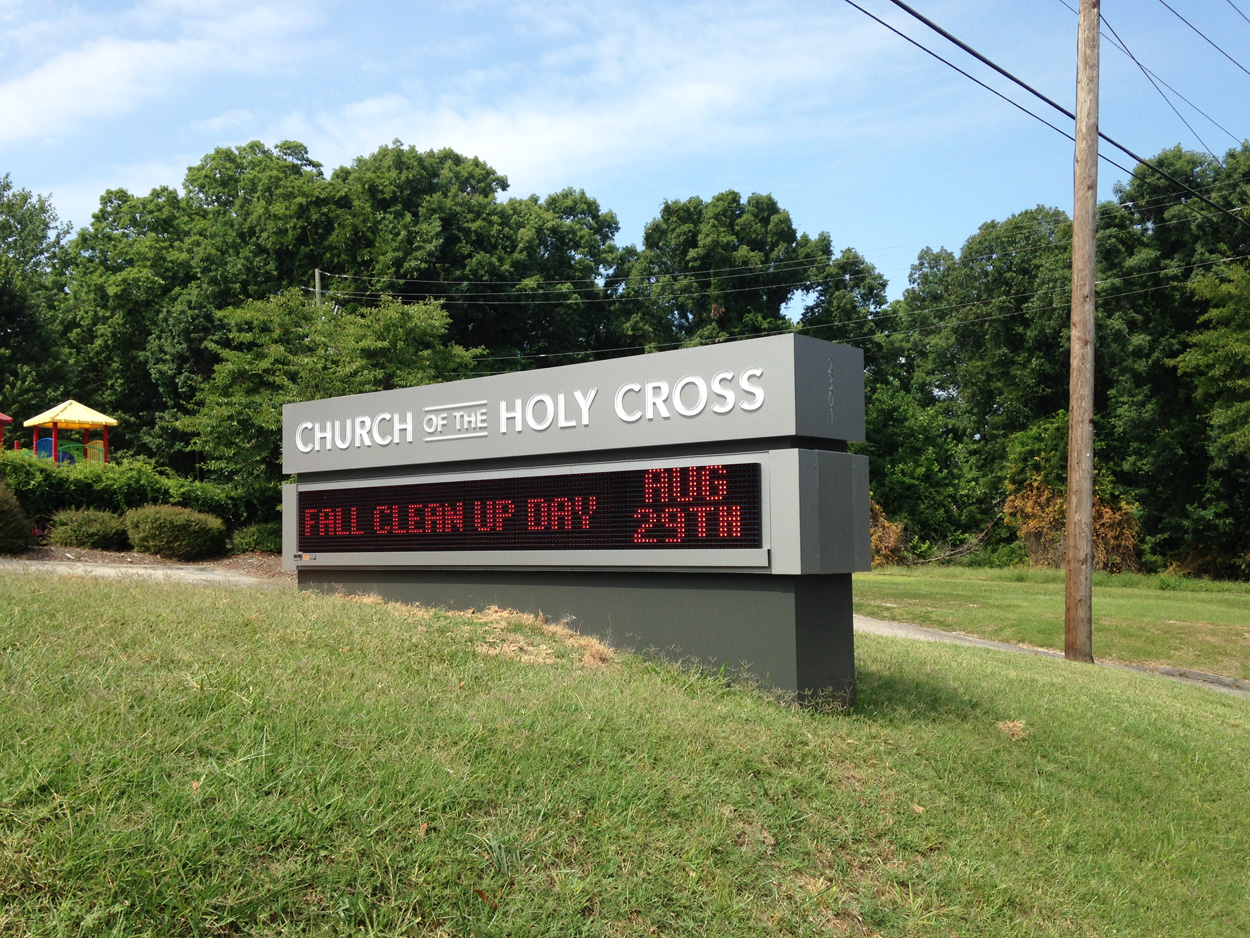 Church of the Holy Cross - Raleigh, NC - Advance Signs & Service