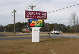 Gourd Springs Baptist Church - Anderson Creek, NC - Advance Signs & Service
