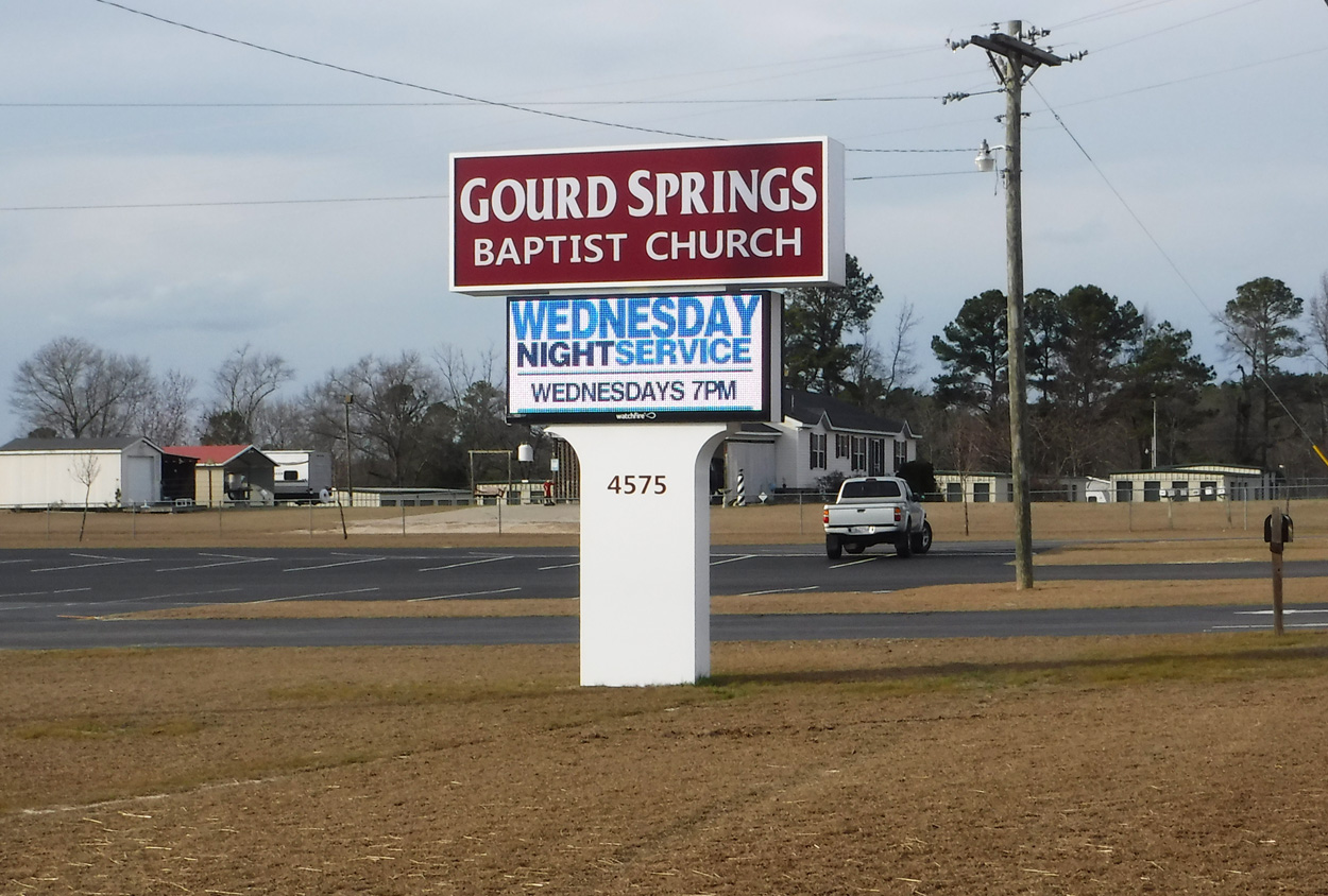 Gourd Springs Baptist Church - Spring Lake, NC - Advance Signs & Service