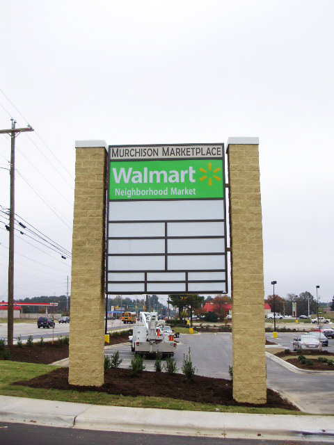 Murchison Marketplace – Fayetteville, NC - Advance Signs & Service