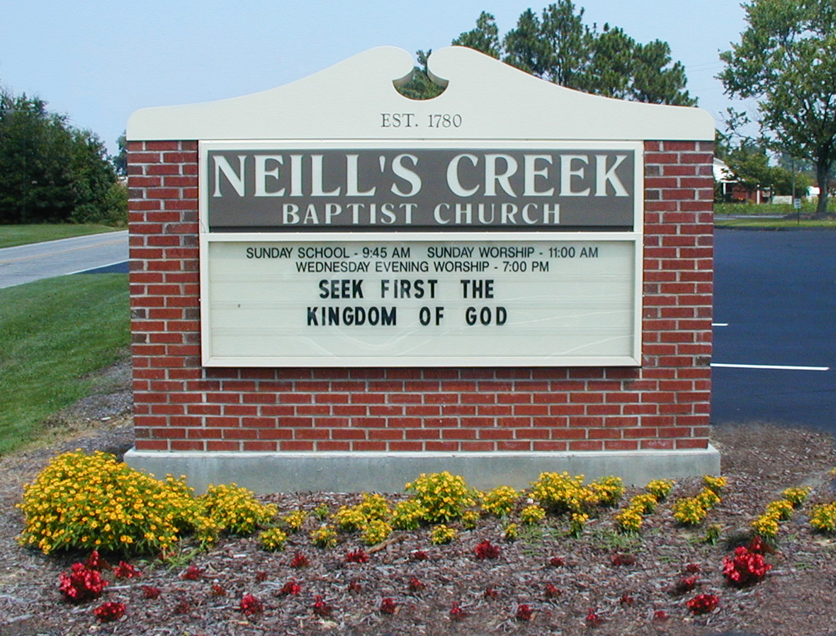 Neil's Creek Baptist Church – Angier, NC - Advance Signs & Service