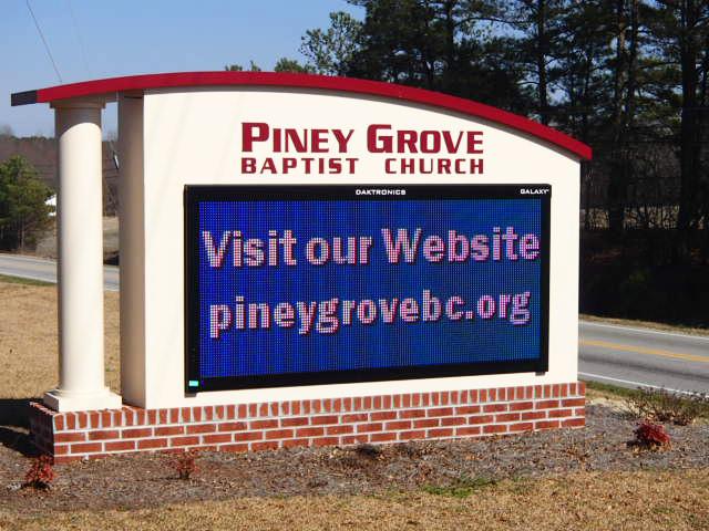 Piney Grove Baptist Church – Fuquay-Varina, NC - Advance Signs & Service