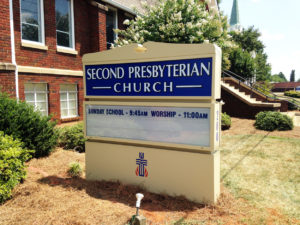 Second Presbyterian Church - Lexington, NC - Advance Signs & Service