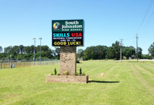 South Johnston High School - Four Oaks, NC - Advance Signs & Service