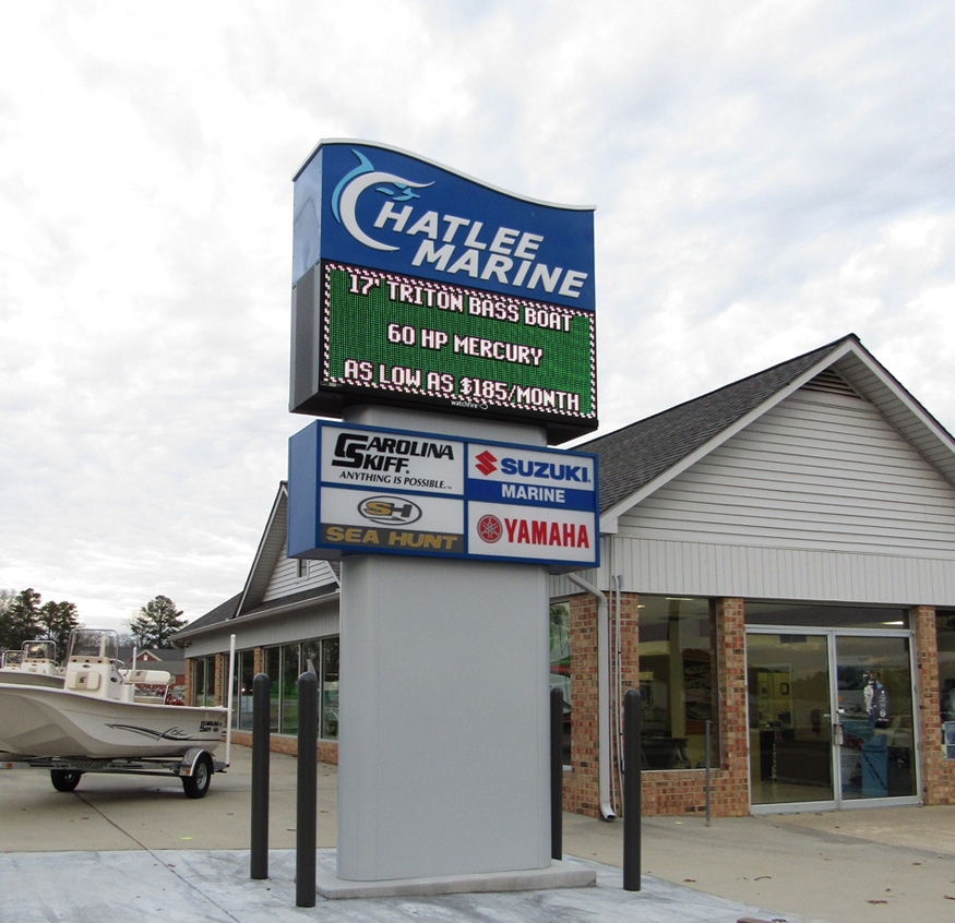 Chatlee Marine - Sanford, NC - Advance Signs & Service
