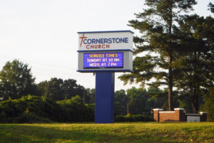 Cornerstone Church – Fuquay-Varina, NC - Advance Signs & Service