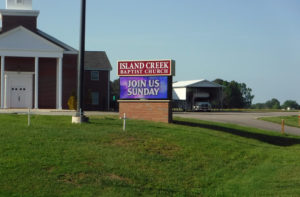 Island Creek Baptist Church – Rose Hill, NC - Advance Signs & Service