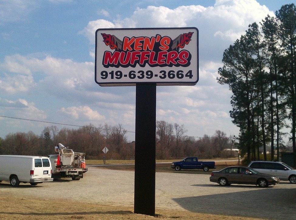 Ken's Mufflers - Angier NC - Advance Signs & Service