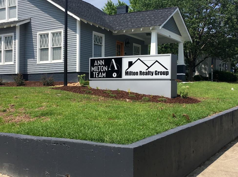 Milton Realty Group – Fuquay-Varina, NC - Advance Signs & Service