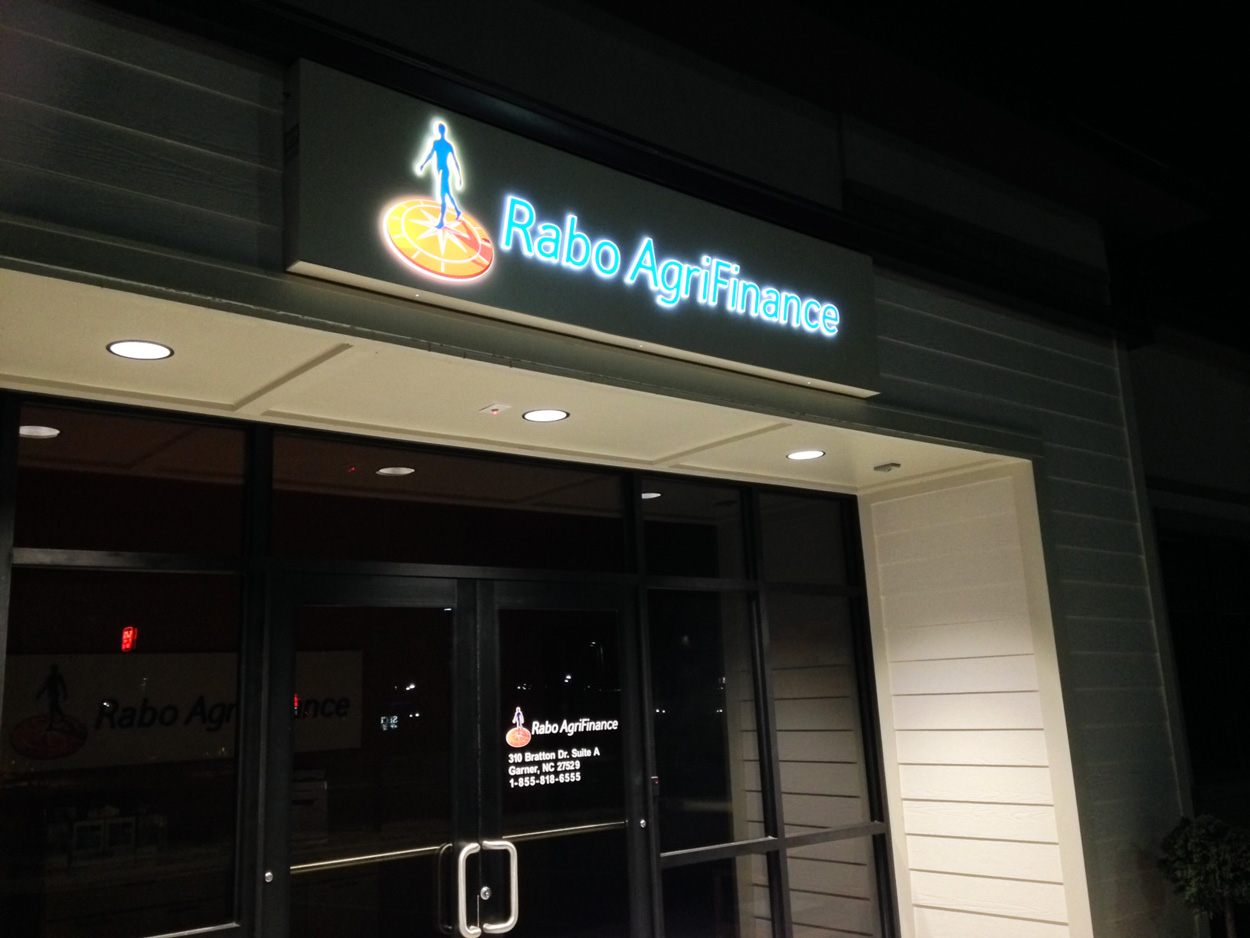 Rabo Agrifinance (NIGHT)- Garner, NC - Advance Signs & Service