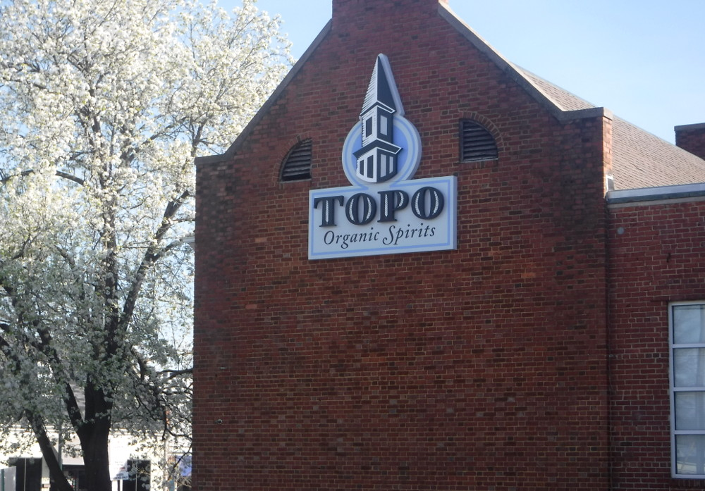 TOPO Organic Spirits – Chapel Hill, NC - Advance Signs & Service